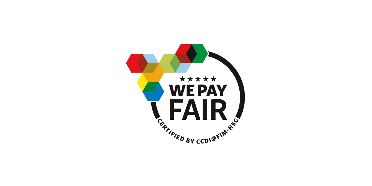 Logo «We pay fair»